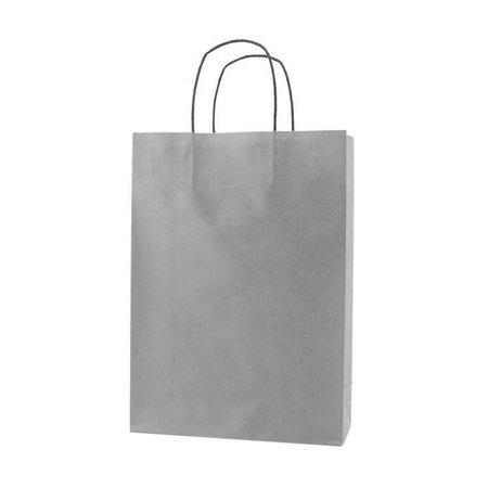 250 x Papieren tas - Zilver - 100 grs.