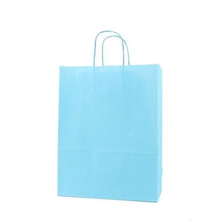 250 x Papieren tas - Blauw - 100 grs.