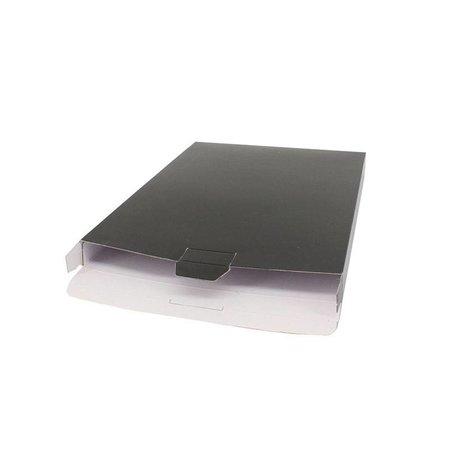 100 x Verzenddozen 16 x 2,9 x 25 cm., zwart