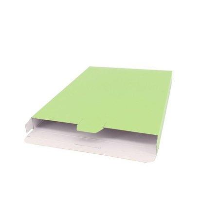 100 x Verzenddozen 16 x 2,9 x 25 cm., appel groen