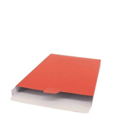 100 x Verzenddozen 16 x 2,9 x 25 cm., rood