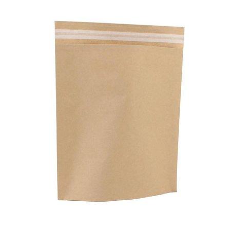 250 x Papieren verzendzakken 30 x 36 + 8 cm., bruin