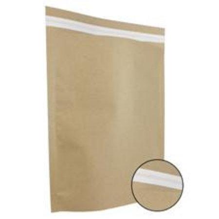 250 x Papieren verzendzakken 48  x 37 + 12 cm., bruin