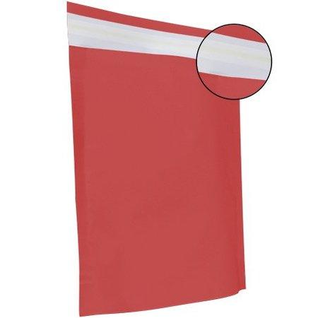 250 x Papieren verzendzakken 48 x 37 + 12 cm., rood