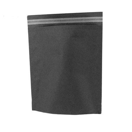 250 x Papieren verzendzakken 30 x 36 + 8 cm., zwart