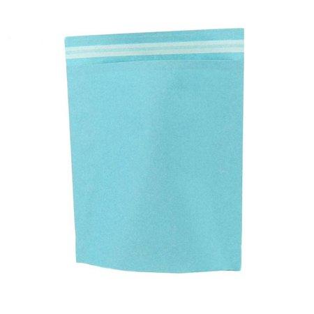 250 x Papieren verzendzakken 48 x 37 + 12 cm., aqua blauw