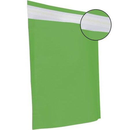 250 x Papieren verzendzakken 30 x 36 + 8 cm., appel groen
