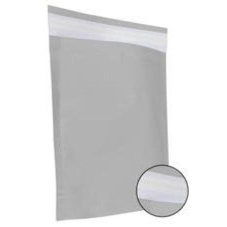 250 x Papieren verzendzakken 48 x 37 + 12 cm., zilver
