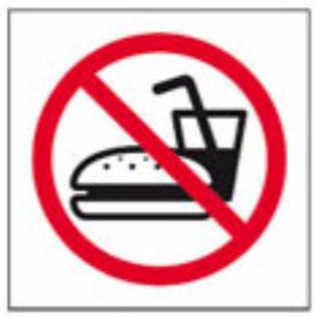 Pictogram Verboden om te eten.