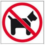 Pictogram Verboden voor honden - glas