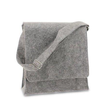 50 x Vilten postmenbags, 33+12x35 cm, grijs
