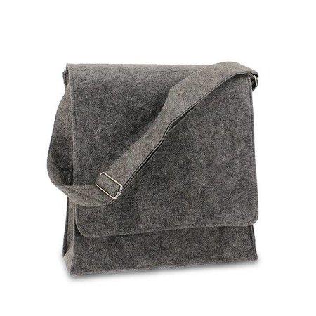 50 x Vilten postmenbags, 33+12x35 cm, donker grijs