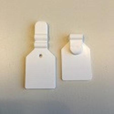 Scanvaantje 25x25mm, wit klein