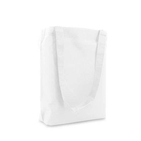 250 x Katoenen tassen 38 x 42 cm., Wit