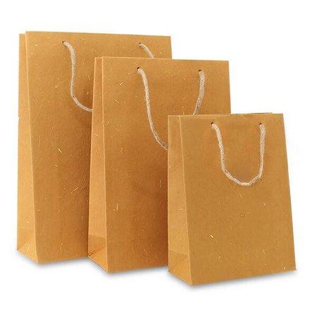100 x ZEROTREE tassen 20 + 8  x 26 cm., Natural Brown