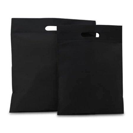 400 x Non Woven tassen - Zwart