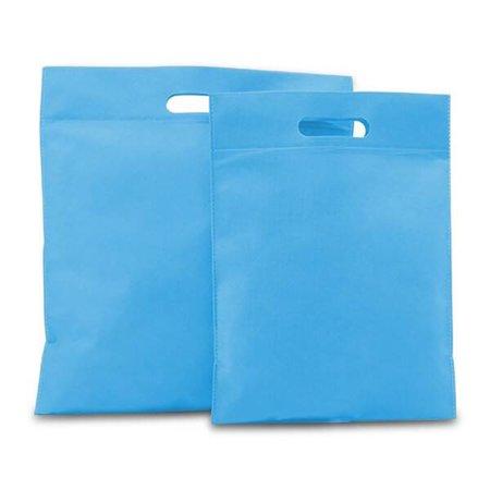 400 x Non Woven draagtassen met uitgestanst handgreep 30 x 40 cm., Aqua blauw