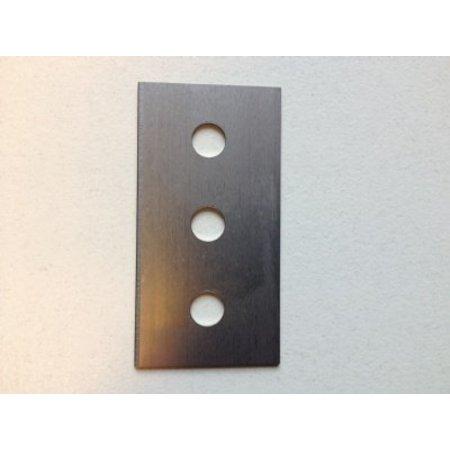 Reservemesje voor metalen zakkensluiter 12mm blauw