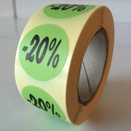 Etiket  groen  27mm -20 %, 500/rol