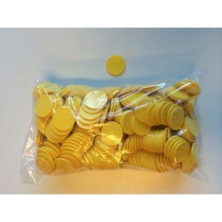 Consumptiemunten geel met ster 500 stuks