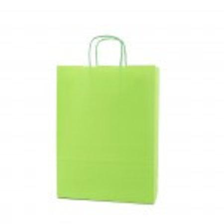 250 x Papieren tas - Groen - 100 grs.