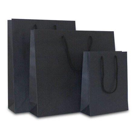 100 x Papieren tas - Katoenen koord - Zwart