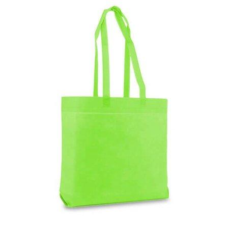 100 x Non woven shopper 50 x 40 + 9 cm., Apple groen