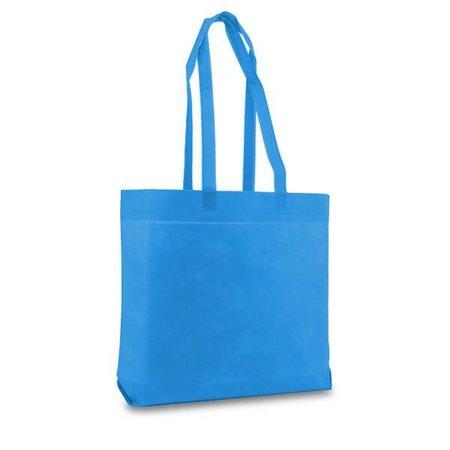 100 x Non woven shopper 50 x 40 + 9 cm., Aqua blauw