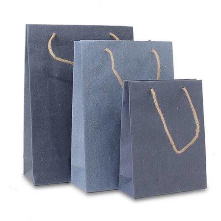100 x ZEROTREE tassen 20 + 8 x 26 cm., Jeans blue