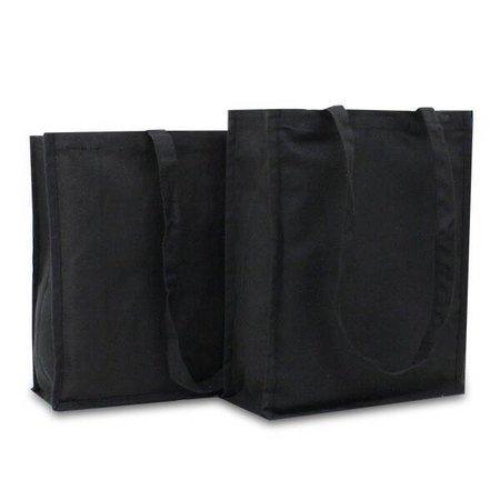 100 x Katoenen tassen 42 + 12 x 35 cm., Zwart