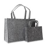 100 x Vilten tassen 27 + 10 x 20 cm., Donker grijs
