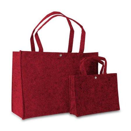 100 x Vilten tassen 27 + 10 x 20 cm., Rood