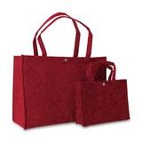 50 x Vilten tassen 45 + 15 x 33 cm., Rood
