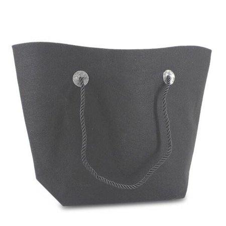 50 x Vilten tassen 37/47 x 33 + 8 cm., Donker grijs