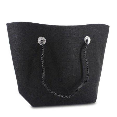 50 x Vilten tassen 37/47 x 33 + 8 cm., Zwart