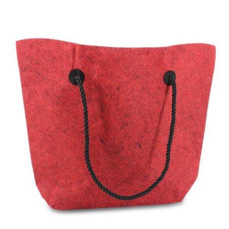 50 x Vilten tassen 37/47 x 33 + 8 cm., Rood