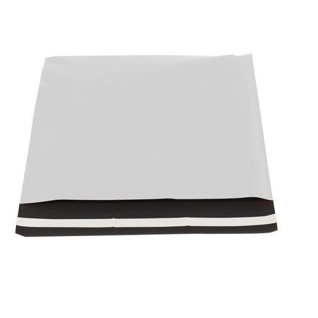 250 x Verzendzakken 25 x 35 cm. + 5,5 cm., wit