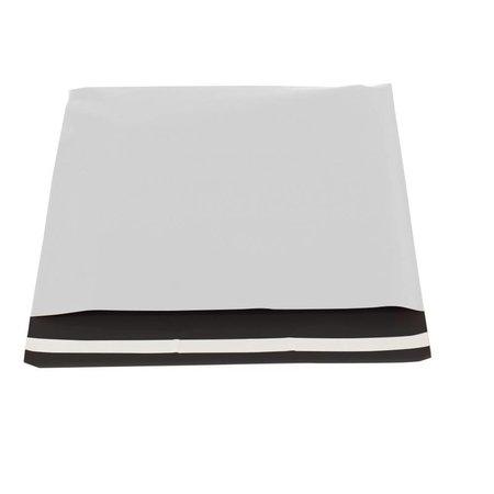 250 x Verzendzakken 40 x 30 cm. + 5,5 cm., wit