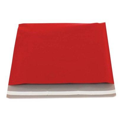 250 x Verzendzakken 50 x 46 cm. + 6,5 cm., rood