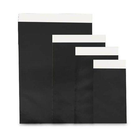 1000 x Geschenkzakjes 7 x 8 cm., All over zwart glanzend