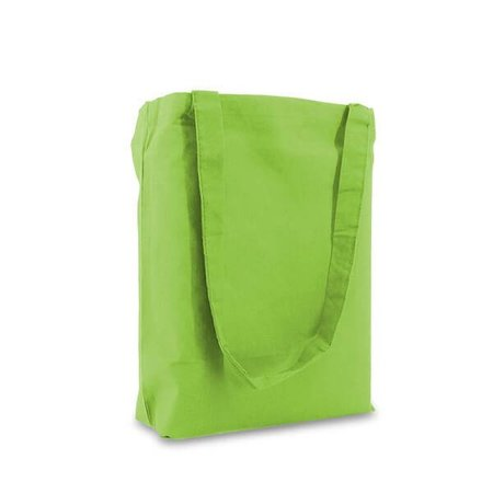 250 x Katoenen tassen 38 x 42 cm., Lime-groen