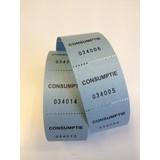 Consumptiebonnen op rol blauw 500/rol