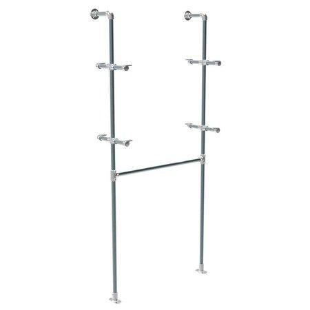 Gecombineerde hang/legstelling - Steigerbuis - H240xB100xD30cm.