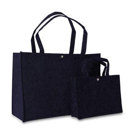50 x Vilten tassen 45 + 15 x 33 cm., Donkerblauw