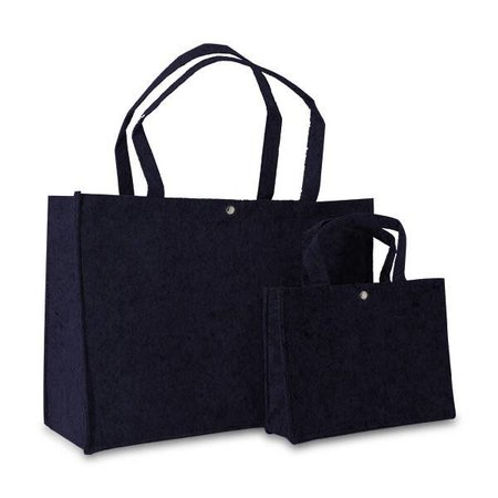 100 x Vilten tassen 27 + 10 x 25 cm., Donkerblauw