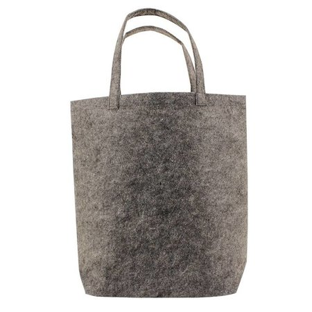 50 x Vilten Tote Bags 42 x 42 + 12cm Donker Grijs