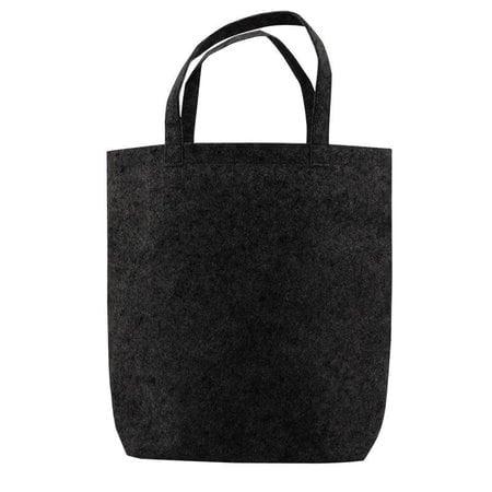 50 x Vilten Tote Bags 42 x 42 + 12cm Zwart