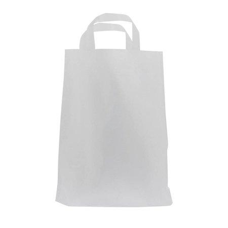 250 x plastic tas met aangesealde lus 75 x 45 + 2 x 5 cm., Semi transparant