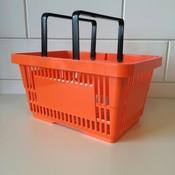 Winkelmandje met dubbele hengsels 22 liter Oranje