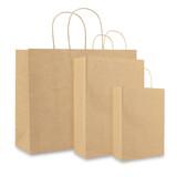 100 x Papieren Jumbo tas - 120 grs. - Bruin - Wit - Zwart